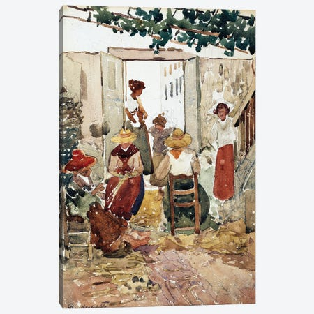 Lacemakers, Venice, 1898 Canvas Print #BMN12016} by Maurice Brazil Prendergast Canvas Art