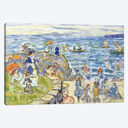 Massachusetts Beach Scene, Canvas Print #BMN12019} by Maurice Brazil Prendergast Canvas Art Print