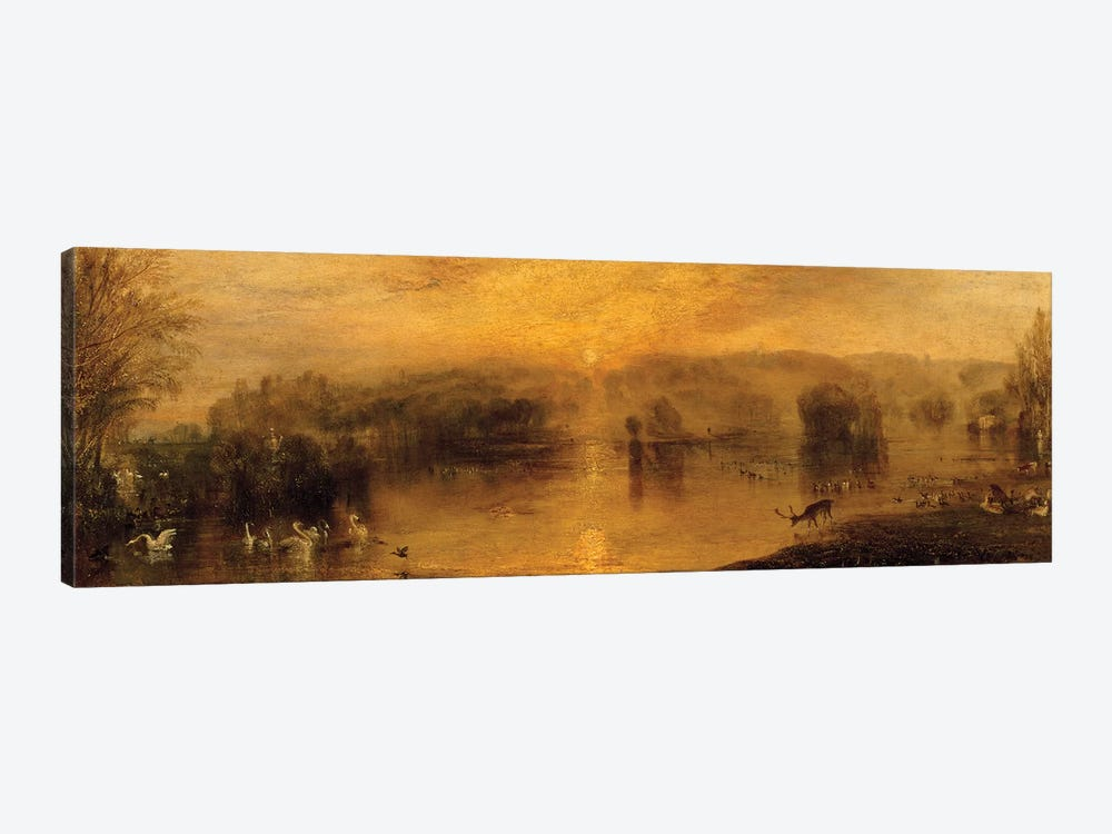 The Lake, Petworth: Sunset, a Stag Drinking, c.1829 by J.M.W. Turner 1-piece Canvas Art Print