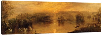 The Lake, Petworth: Sunset, a Stag Drinking, c.1829 Canvas Art Print