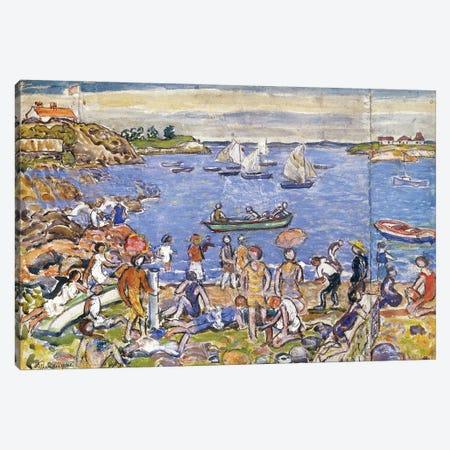 Near Gloucester, Canvas Print #BMN12020} by Maurice Brazil Prendergast Canvas Wall Art