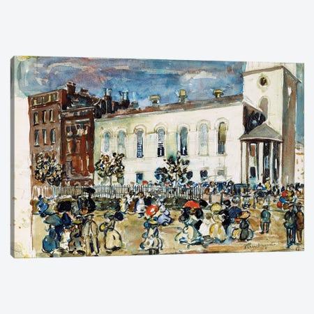 Park Street Church, Boston, C.1905-1907 Canvas Print #BMN12023} by Maurice Brazil Prendergast Canvas Artwork