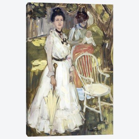 Portrait Of Mrs, Canvas Print #BMN12024} by Maurice Brazil Prendergast Canvas Art Print