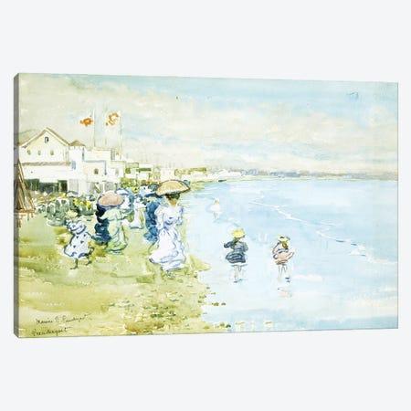 Revere Beach, Boston, Canvas Print #BMN12027} by Maurice Brazil Prendergast Art Print