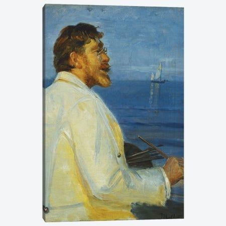 Portrait Of The Artist Peder Severin Kroyer, Half-Length, 1907 Canvas Print #BMN12039} by Michael Peter Ancher Art Print