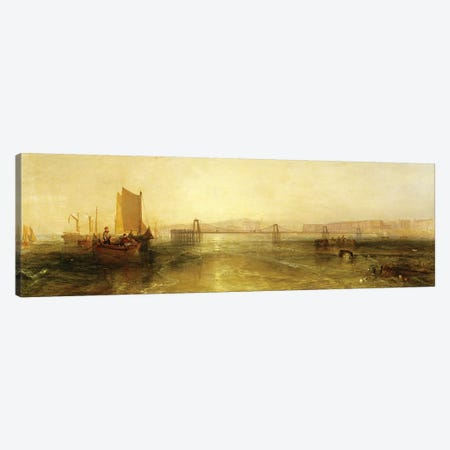 Brighton from the Sea, c.1829 Canvas Print #BMN1203} by J.M.W. Turner Canvas Wall Art