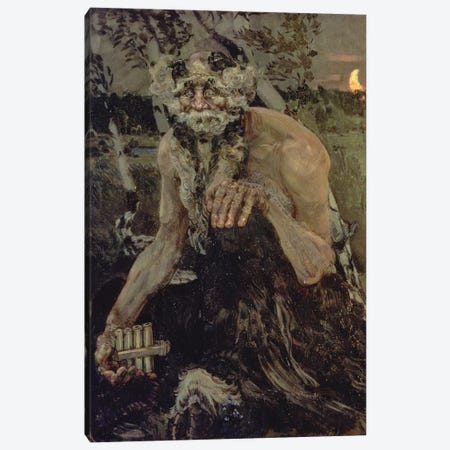 Pan, 1899 Canvas Print #BMN12049} by Mikhail Aleksandrovich Vrubel Canvas Art
