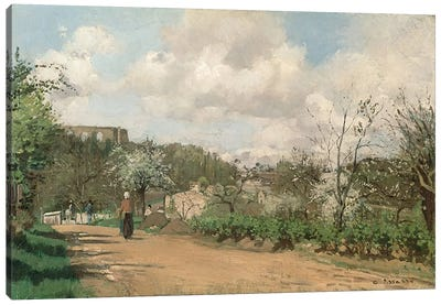 View from Louveciennes, 1869-70  Canvas Art Print