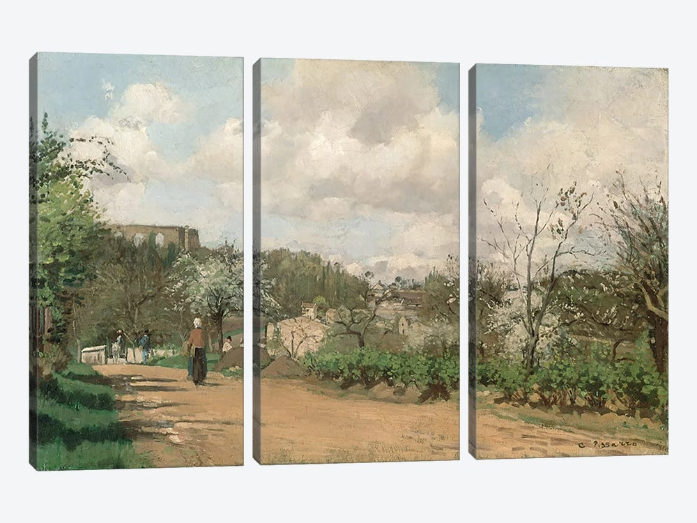 View from Louveciennes, 1869-70  by Camille Pissarro 3-piece Canvas Artwork