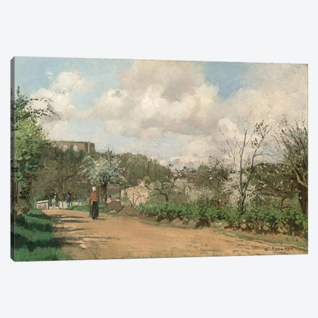 View from Louveciennes, 1869-70  3-Piece Canvas #BMN1204} by Camille Pissarro Canvas Print