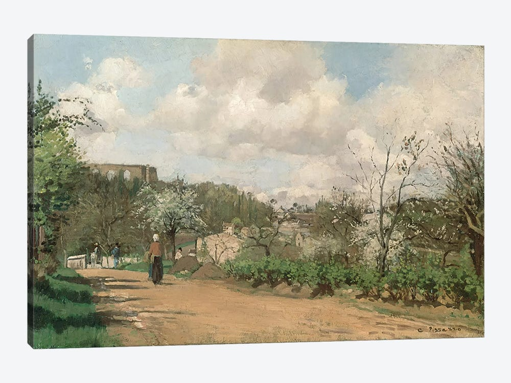 View from Louveciennes, 1869-70  by Camille Pissarro 1-piece Canvas Artwork