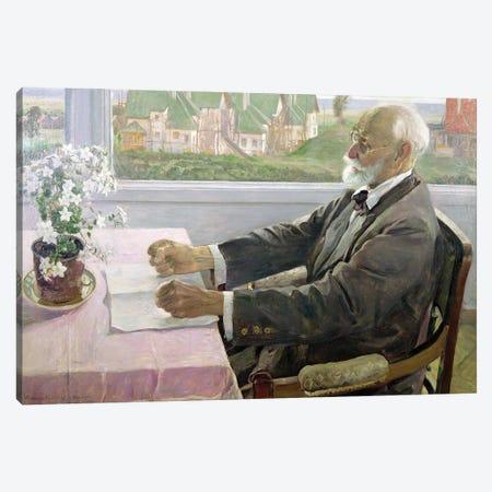 Ivan Petrovich Pavlov In His House At Koltushy, Near St. Petersburg, 1935 Canvas Print #BMN12067} by Mikhail Vasilievich Nesterov Canvas Print