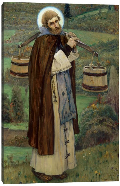 Saint Sergius' Labours By Nesterov, Mikhail Vasilyevich Canvas Art Print