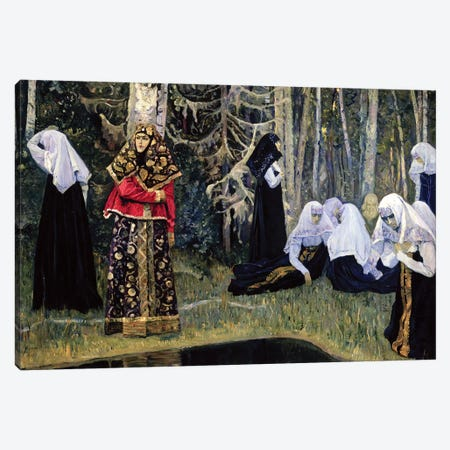 The Legend Of The Invisible City Of Kitezh, 1917-22 Canvas Print #BMN12070} by Mikhail Vasilievich Nesterov Art Print