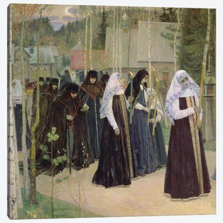 The Taking Of The Veil, 1898 Canvas Print #BMN12072} by Mikhail Vasilievich Nesterov Art Print