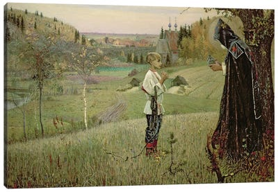 The Vision Of The Young Bartholomew, 1889-90 Canvas Art Print