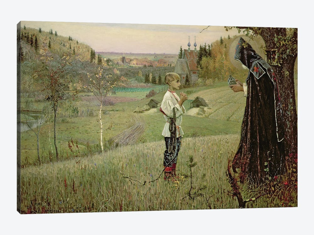 The Vision Of The Young Bartholomew, 1889-90 by Mikhail Vasilievich Nesterov 1-piece Canvas Artwork