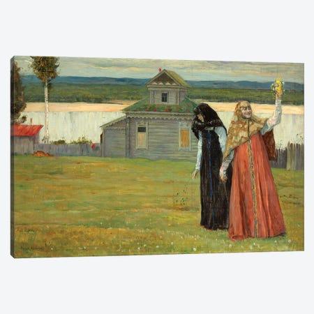 Two Sisters, 1923 Canvas Print #BMN12075} by Mikhail Vasilievich Nesterov Canvas Art