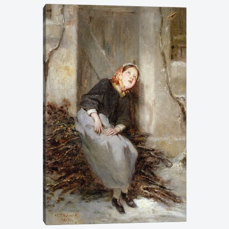 The Faggot Picker, 1855 Canvas Print #BMN12079} by Octave Tassaert Canvas Art Print