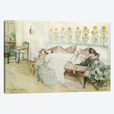 Interior, 1898 Canvas Print #BMN12087} by Peder Severin Kroyer Canvas Print
