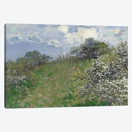 Spring, 1875 Canvas Print #BMN1208} by Claude Monet Canvas Art