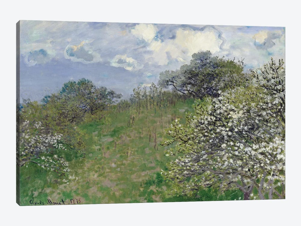 Spring, 1875 by Claude Monet 1-piece Canvas Wall Art