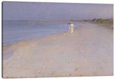 Summer Evening At The South Beach, Skagen, 1893 Canvas Art Print