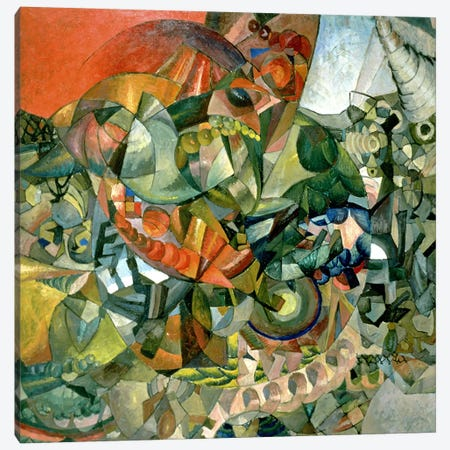 Allegory of the Patriotic War of 1812, 1914 Canvas Print #BMN1209} by Aristarkh Vasilievic Lentulov Canvas Art