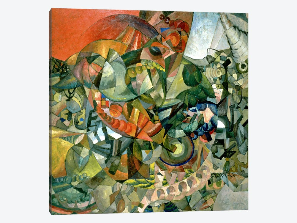 Allegory of the Patriotic War of 1812, 1914 by Aristarkh Vasilievic Lentulov 1-piece Canvas Art Print