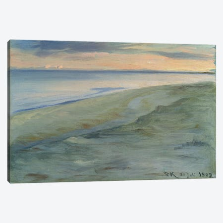 The Beach, Skagen, 1902 Canvas Print #BMN12101} by Peder Severin Kroyer Canvas Art Print