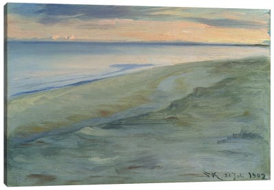 The Beach, Skagen, 1902 Canvas Art Print