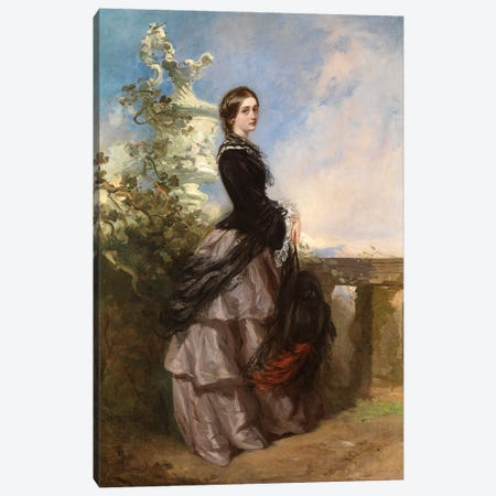 Portrait Of Agnes Wilson, Later Lady Aubrey-Fletcher Canvas Print #BMN12108} by Richard Buckner Art Print