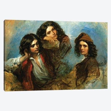 The Italian Goatherd Canvas Print #BMN12111} by Richard Buckner Canvas Art