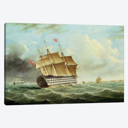 British Man-O'-War Canvas Print #BMN12116} by Thomas Buttersworth Canvas Art Print