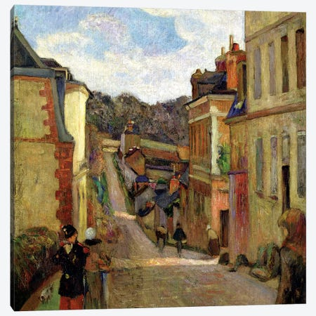 A Suburban Street, 1884 Canvas Print #BMN1211} by Paul Gauguin Art Print