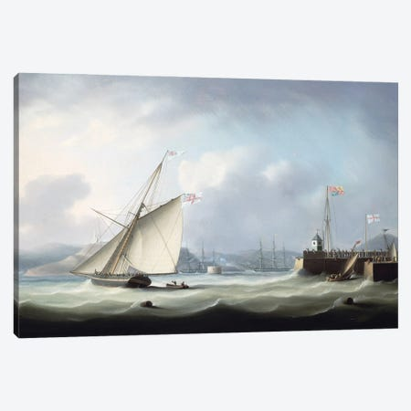 The Arrival Of George Iv At Leith Harbour, 1822 Canvas Print #BMN12127} by Thomas Buttersworth Canvas Artwork