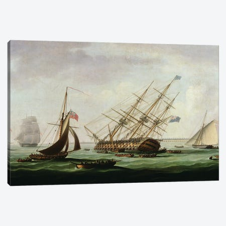 The Sinking Of The Royal George Canvas Print #BMN12131} by Thomas Buttersworth Canvas Artwork