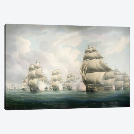 The Start Of The Action Canvas Print #BMN12132} by Thomas Buttersworth Canvas Artwork