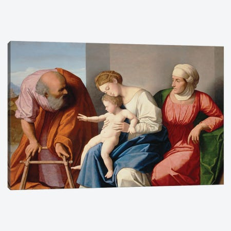 Holy Family With Saint Anne, C.1520 Canvas Print #BMN12133} by Vincenzo Di Biagio Catena Canvas Wall Art