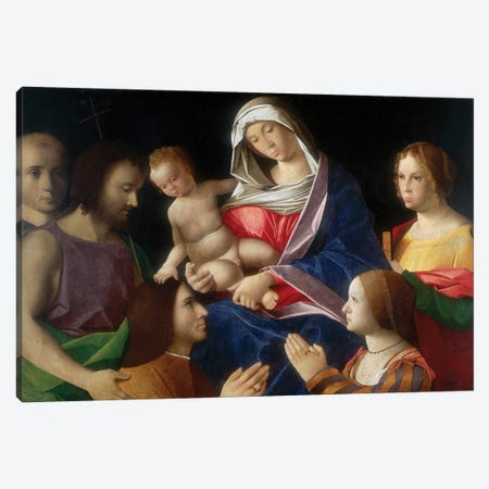 Madonna With Child And Saints Canvas Print #BMN12135} by Vincenzo Di Biagio Catena Canvas Print