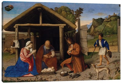 The Adoration Of The Shepherds, C.1520 Canvas Art Print