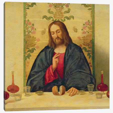 The Supper At Emmaus, 1520 Canvas Print #BMN12141} by Vincenzo Di Biagio Catena Canvas Print