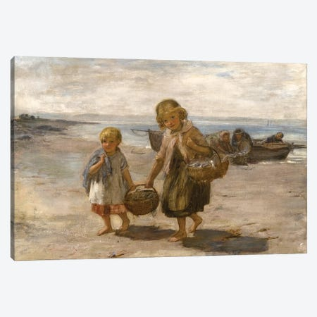 Fish From The Boat, 1867-68 Canvas Print #BMN12147} by William McTaggart Canvas Wall Art