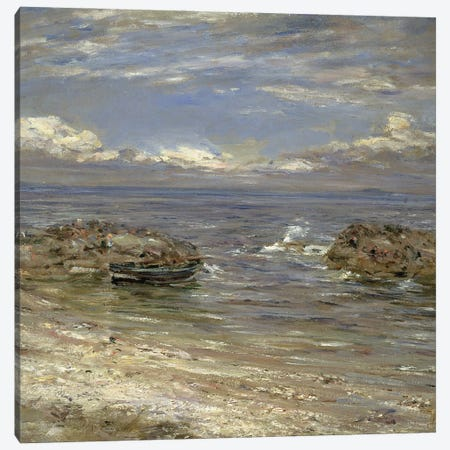 Natural Harbour, Cockenzie Canvas Print #BMN12151} by William McTaggart Canvas Artwork