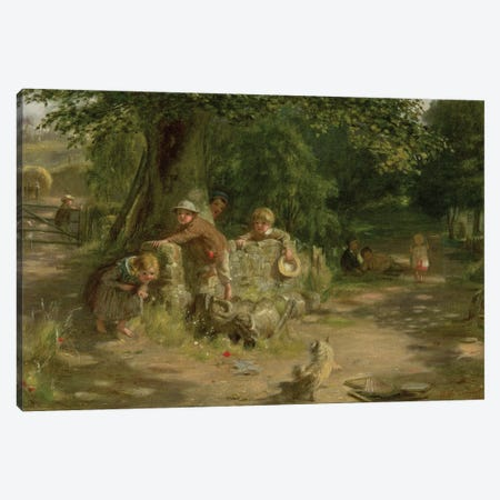 Playmates, 1867 Canvas Print #BMN12155} by William McTaggart Art Print