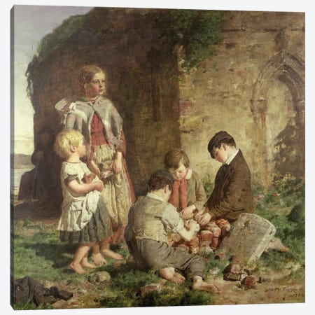 The Past And Present, 1860 Canvas Print #BMN12164} by William McTaggart Canvas Wall Art