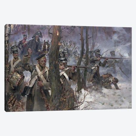 Battle Of Olszynk Grochowsk, Warsaw, 25 February 1831, 1912 Canvas Print #BMN12168} by Wojciech Kossak Art Print