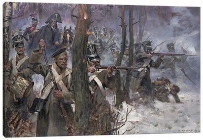 Battle Of Olszynk Grochowsk, Warsaw, 25 February 1831, 1912 Canvas Art Print