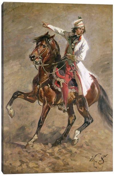 General Tadeusz Kosciuszko On Horseback, Sketch For 'The Panorama Of Raclawice', 1893 Canvas Art Print