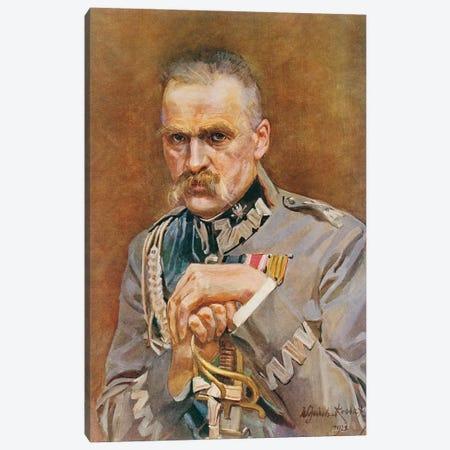 Marshal Joseph Pilsudski Canvas Print #BMN12172} by Wojciech Kossak Canvas Artwork